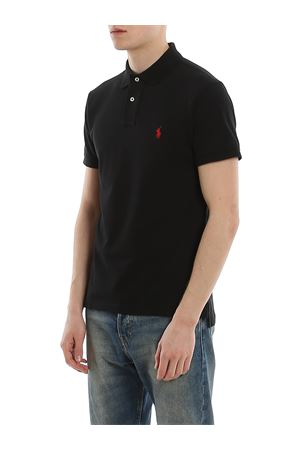 Logo embroidery black pique polo shirt POLO RALPH LAUREN | 8 | 710795080006
