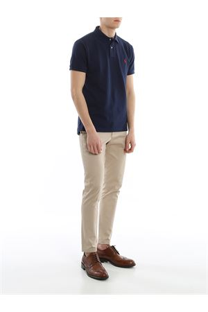 Navy blue slim fit cotton pique polo POLO RALPH LAUREN | 8 | 710795080007