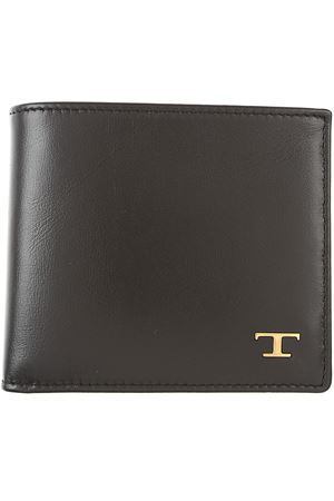 Wallet in leather Black TOD