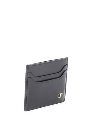 Credit card holder in leather Black TOD