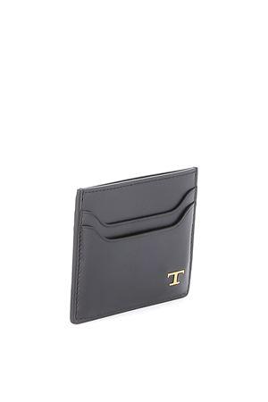 Porta carta di credito in pelle Nero XAMTSIF0200MYIB999 TOD