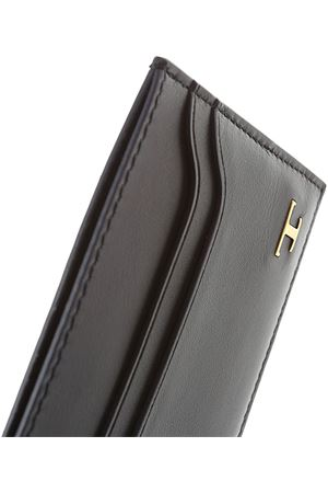 Credit card holder in leather Blue TOD