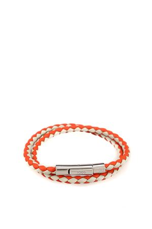 MyColors grey and orange leather bracelet TOD