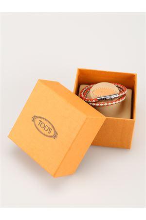 Bracciale MyColors pelle grigia e arancio XEMB1900200FLR3Q28 TOD
