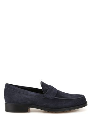 Blue suede loafers TOD