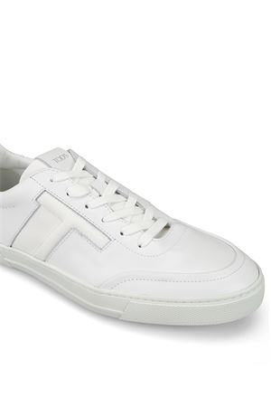 White leather low top urban sporty sneakers TOD