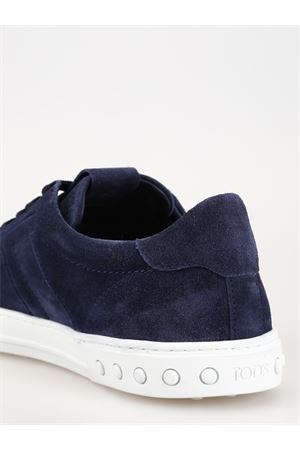 Blue suede sneakers with padded T TOD