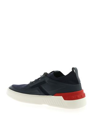 NO_CODE SNEAKERS IN BLUE AND RED WITH LOGO TOD