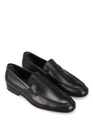 Smooth leather black loafers 