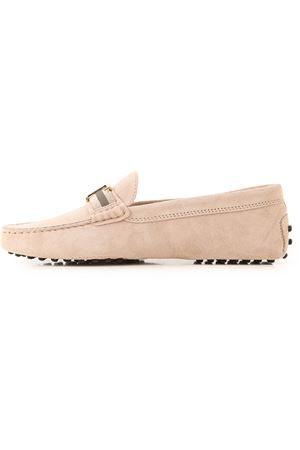 GOMMINO PINK SUEDE LOAFERS TOD