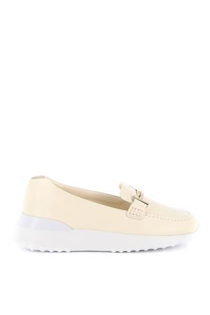 DOUBLE T LEATHER LOAFERS TOD