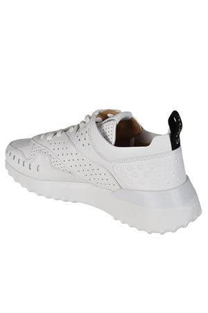 White drilled leather sneakers TOD