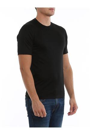 BLACK SATIN JERSEY T-SHIRT Z ZEGNA | 8 | VU348ZZ641K09