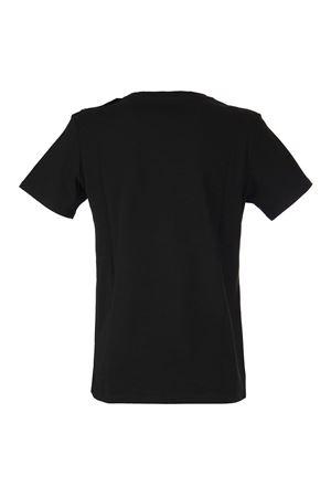 FLOCKED LOGO BLACK T-SHIRT BALMAIN | 8 | VF11350B012EAB