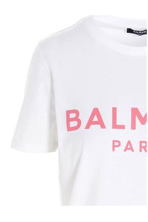 LOGO PRINT T-SHIRT IN WHITE BALMAIN | 8 | VF11350B019GBY