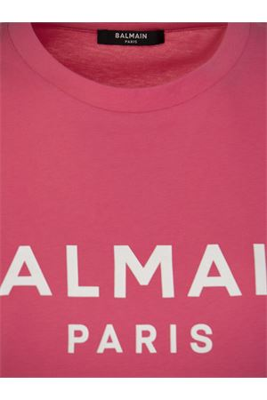 PINK COTTON T-SHIRT BALMAIN | 8 | VF11350B019OAJ
