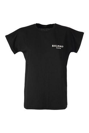 BLACK COTTON T-SHIRT BALMAIN | 8 | VF11351B013EAB