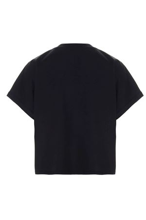 LOGO CROPPED T-SHIRT IN BLACK
