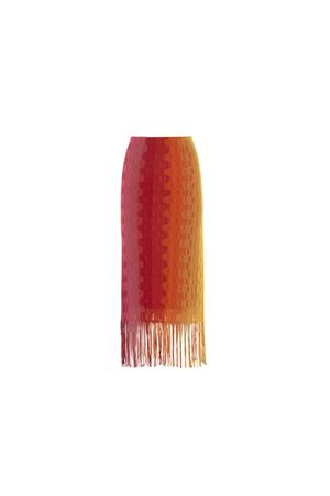 SKIRT WITH MULTICOLOR FRINGES BEATRICE B | 15 | 554621N220