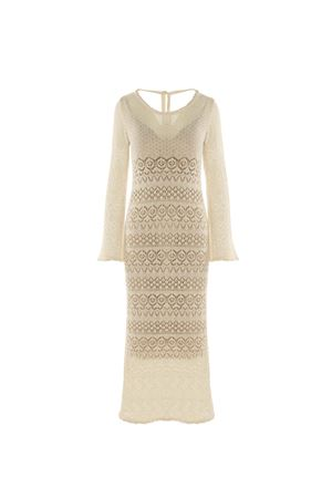 LONG BEIGE DRESS BEATRICE B | 11 | 6473CROCHET203