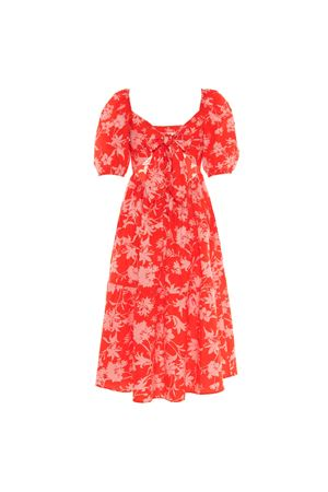 RED DRESS WITH PRINT BEATRICE B | 11 | 6482701833360