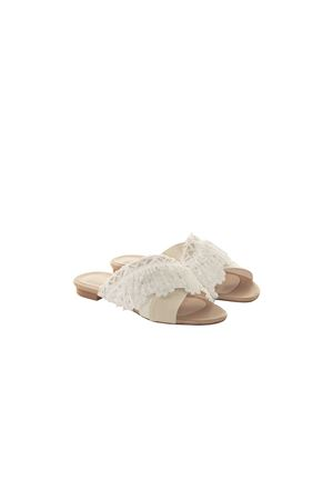 WHITE AND BEIGE SANDAL BEATRICE B | 5032258 | 9896LACE120