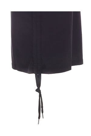 DRAWSTRING DRESS IN BLACK