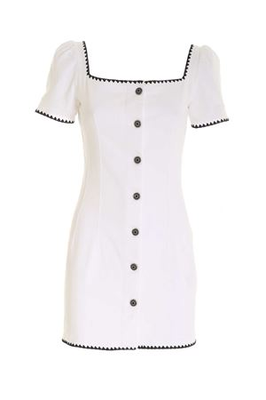 EMBROIDERY DETAILS SHORT DRESS IN WHITE