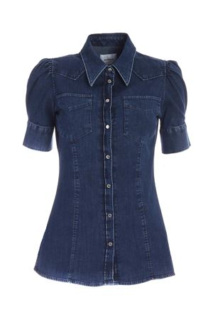 CAMICIA MANICA PALLONCINO BLU DC186DS0278DED1DD800 DONDUP | 6 | DC186DS0278DED1DD800