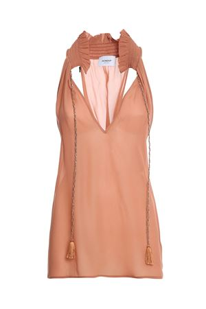 CRÊPE TOP IN PINK DONDUP | 40 | DC197IF0017DXXXDD518