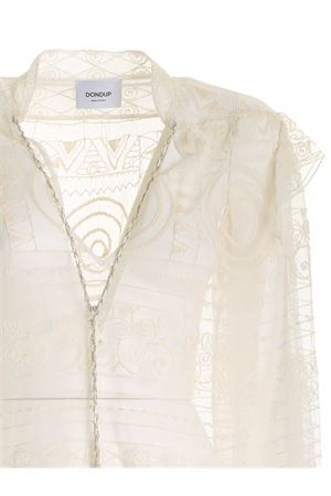 EMBROIDERED LACE BLOUSE IN WHITE DONDUP | 6 | DC198ZF0054DXXXDD007