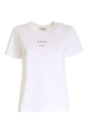 LOVE EMBROIDERY T-SHIRT IN WHITE DONDUP | 8 | S746JF0234DBN1DD000