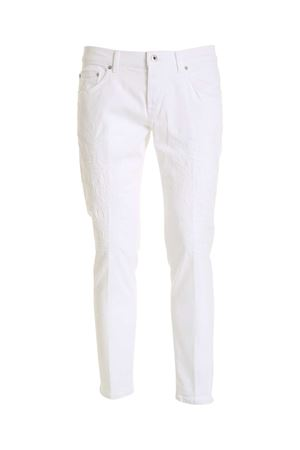 DESTROYED-EFFECT PANTS IN WHITE DONDUP | 24 | UP168BS0030UBG9DU000