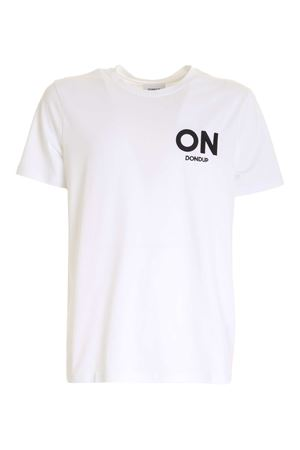 EMBROIDERY T-SHIRT IN WHITE DONDUP | 8 | US198JF0271UBF3DU000