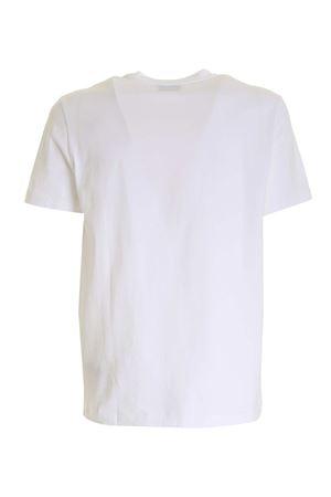 CONTRASTING LOGO T-SHIRT IN WHITE DONDUP | 8 | US198JF0283UZL4DU000