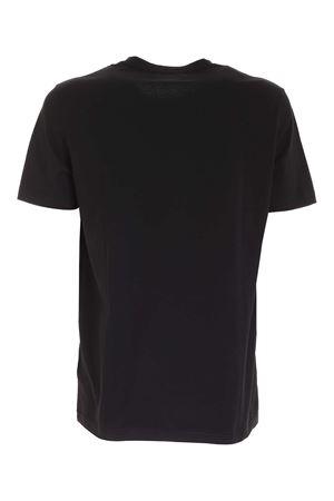 CONTRASTING LOGO T-SHIRT IN BLACK DONDUP | 8 | US198JF0283UZL4DU999