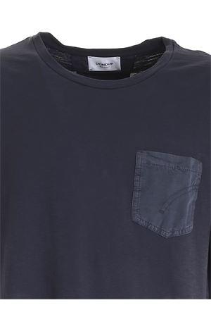POCKET T-SHIRT IN BLUE DONDUP | 8 | US301JF0195UPTDDU890