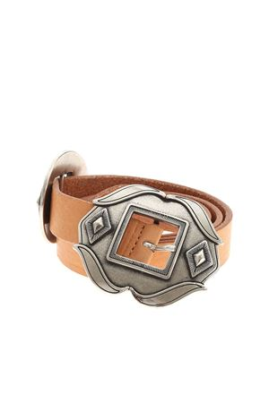 DOUBLE BUCKLE BELT IN BROWN DONDUP | 22 | WC231PL0276DXXXDD003