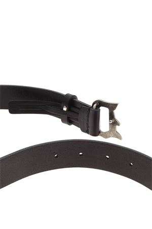 BRANDED BUCKLE BELT IN BLACK