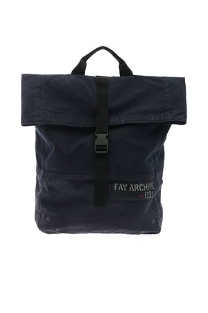 FAY ARCHIVE BLUE CANVAS BACKPACK FAY | 10000008 | N7MF942111LTJMU807