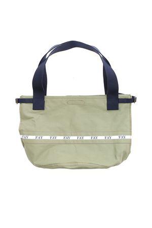 SHOPPING BAG IN CANVAS VERDE N7WF942681SMVRC208 FAY | 5032266 | N7WF942681SMVRC208