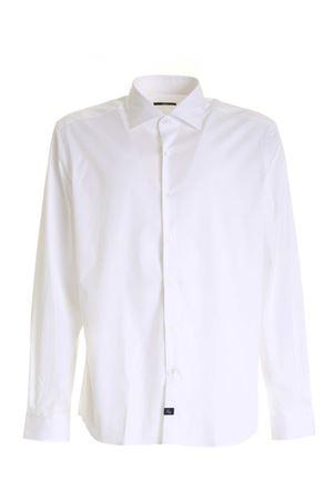 LOGO LABEL SHIRT IN WHITE FAY | 6 | NCMA142259SORMB001