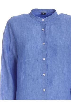MANDARIN COLLAR SHIRT IN BLUE FAY | 6 | NCWA142573LQTCU600