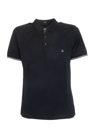 LOGO EMBROIDERED POLO SHIRT IN BLUE