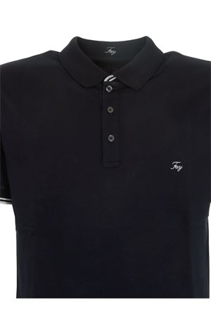 LOGO EMBROIDERED POLO SHIRT IN BLUE FAY | 2 | NPMB242134STDWU807