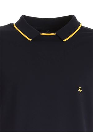 YELLOW LOGO POLO SHIRT IN BLUE FAY | 2 | NPMB242139STDWU807