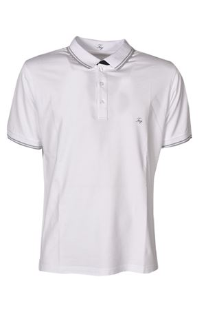 LOGO EMBROIDERED POLO SHIRT IN WHITE