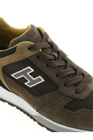 H321 FLOCK SNEAKERS IN GREEN HOGAN | 120000001 | HXM3210Y860P9S849Z