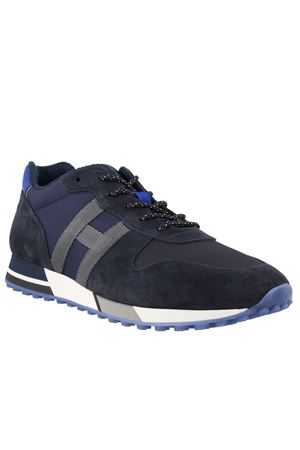 H383 SNEAKERS IN BLUE AND GREY HOGAN | 120000001 | HXM3830AN51N4X50C5