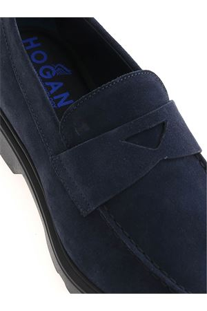H393 LOAFERS IN BLUE HOGAN | 5032263 | HXM3930X230HG0U828